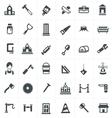 carpenter icons set vector image
