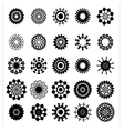 collection of flower silhouettes vector image