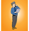 Man On Phone small vector image vector image