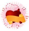 congratulatory banner with a heart vector image