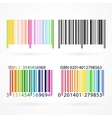 Black and colored barcode vector image
