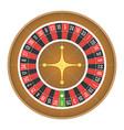 european roulette wheel vector image