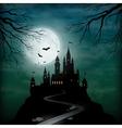 Fantasy Castle Moonlight Sky vector image