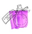 Flask with lavender essence vector image