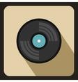 Gramophone vinyl LP record icon flat style vector image