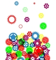 Industrial abstract colorful background design vector image