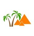 palms pyramids vector image