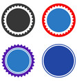 rounded seal stamp flat icons vector image