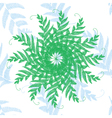 branches and leaves star vector image vector image