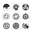 set of futuristic sci-fi circles vector image vector image