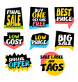 sale super big collection label best price vector image