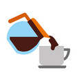 coffee teapot with cup vector image