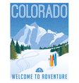 Vintage travel poster or sticker of Colorado vector image vector image