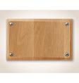 rectangular wooden plate vector image