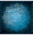 blue indiant ornament vector image vector image