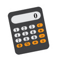 calculator icon flat cartoon style isolated on vector image