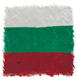 Flag of Bulgaria handmade square shape vector image