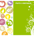 Fruit and vegetable card vector image