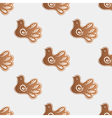 pattern with gingerbread cookies vector image