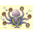 Octopus - the catcher vector image vector image