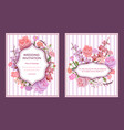 colorful wedding invitation cards vector image