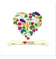 Love veggy vector image