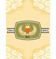 Oktoberfest Celebration with label vector image