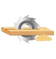 Scrap of the board by saw vector image vector image