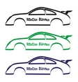 car body silhouette for your commercial use eps10 vector image