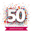 Fifty paper confetti sign vector image