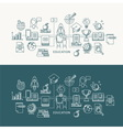 Education and Learning Line Icons Set vector image