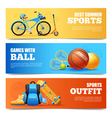 Summer Sports Banners Set vector image vector image