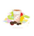 latte macchiato vector image vector image