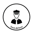 Taxi driver icon vector image