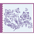floral pattern ink vector image