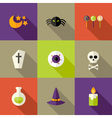 Halloween Squared Flat Icons Set 3 vector image