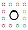 isolated jewelry icon ring element can be vector image