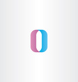 letter o number 0 zero icon logo vector image