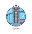 london bridge icon vector image