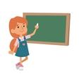 School girl class board vector image