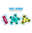 set of hand spinning machine rotation vector image