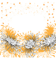 chrysanthemum background vector image vector image
