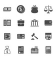 digital black business icons vector image