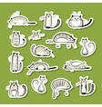 Stickers with funny cats for your design vector image