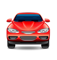 Red car front view isolated on white vector image
