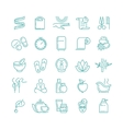 Spa and Beauty line icons set vector image
