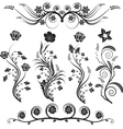 flowers and ornaments vector image vector image