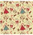 Christmas Confectionery Pattern vector image