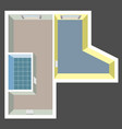 empty house plan top view vector image