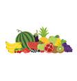 fruits vegetables berries still life vector image